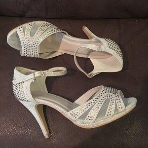 Bella Marie Rose Gold Rhinestone Sandals
